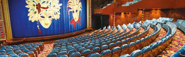 Théâtre du bateau de croisière Norwegian Jade