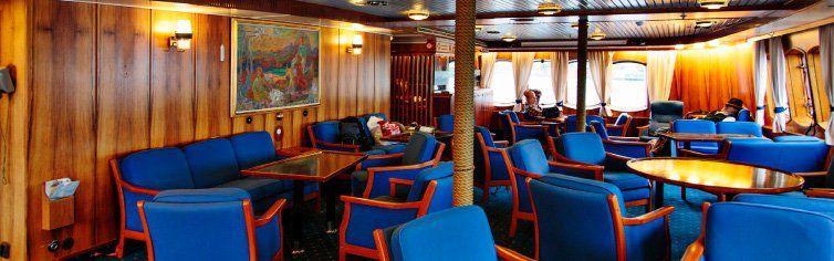 Bar du bateau de croisière MS Lofoten