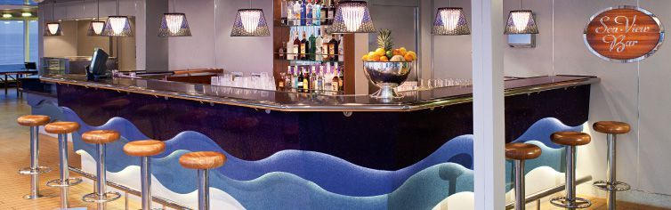Bar du bateau de croisière MS Nieuw Amsterdam