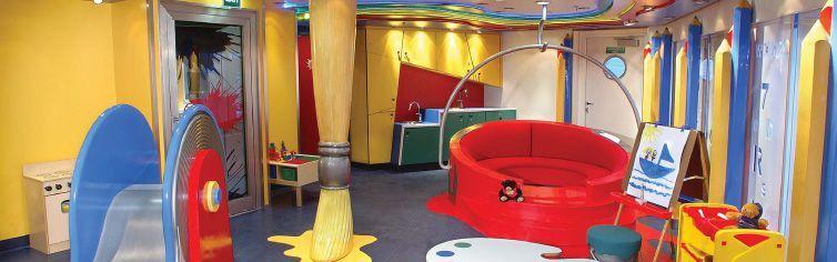 Club dédié aux enfants du bateau de croisière MS Rotterdam