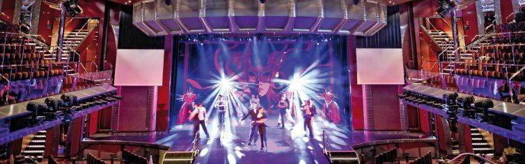 Théâtre du bateau de croisière Costa Fascinosa