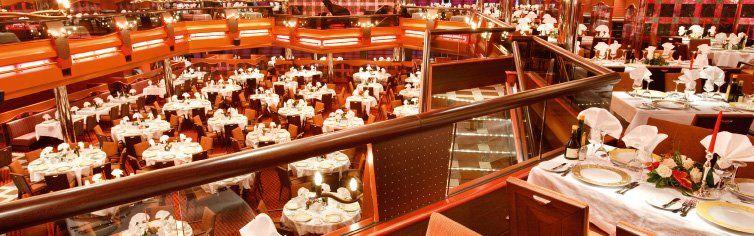 Restaurant du bateau de croisière Costa Pacifica
