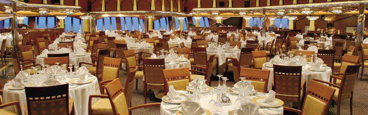 Restaurant du bateau de croisière Costa Fortuna