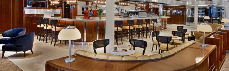 Bar du bateau de croisière Seabourn Ovation