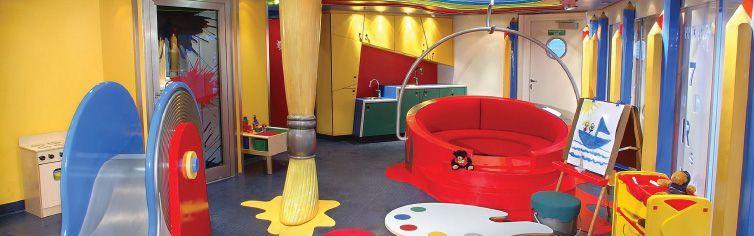 Club pour enfants du bateau de croisière MS Prinsendam