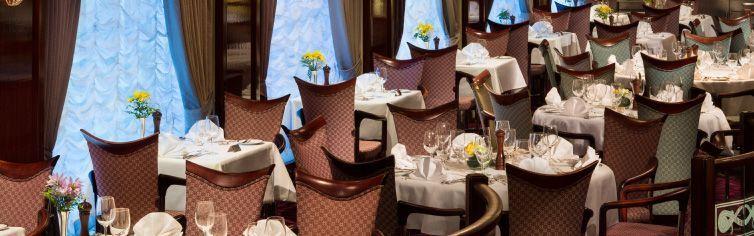 Restaurant du bateau de croisière MS Prinsendam