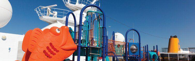 Zone dédiée aux enfants à bord du bateau de croisière Costa Neoriviera