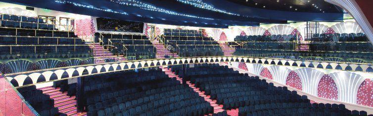 Théâtre du bateau de croisière MSC Orchestra