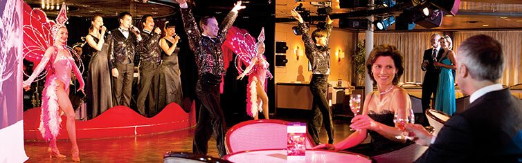 Photo du cabaret l'Etoile du Sud à bord du navire de croisière Jules Verne