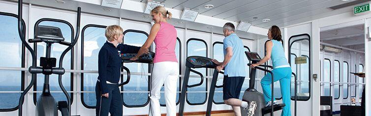 Salle de Fitness face Océan à bord du navire Jules Verne