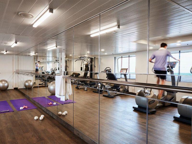 Salle de gym du bateau de croisière Silver Cloud