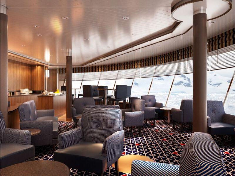 Lounge du bateau de croisière Silver Cloud