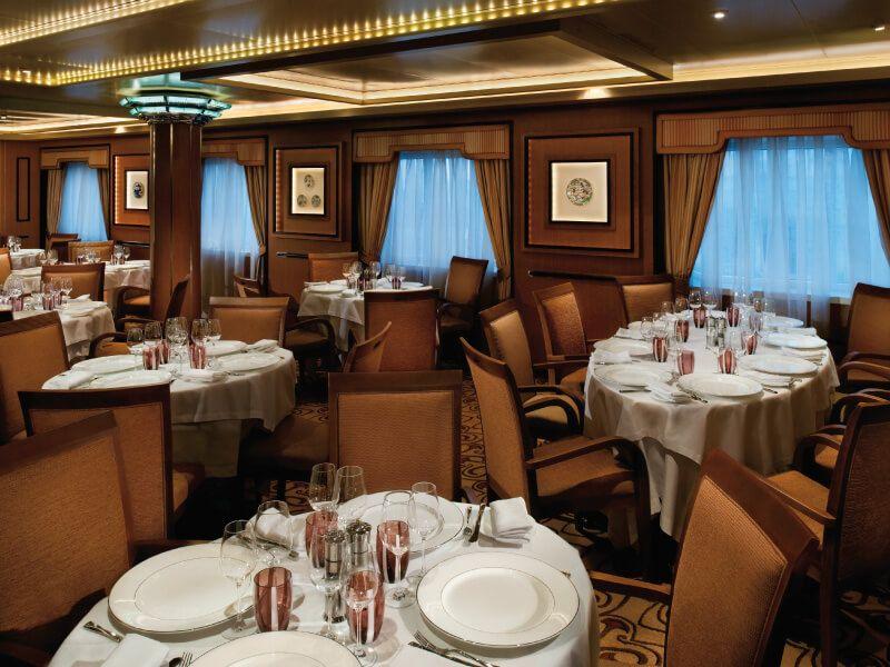 The Restaurant du bateau de croisière Silver Spirit