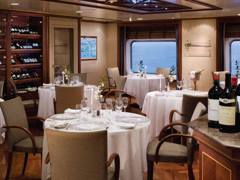 Restaurant le Champagne du bateau de croisière Silver Shadow