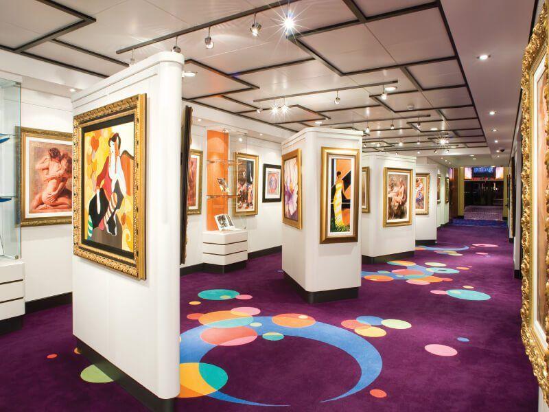 Galerie d'art à bord du bateau de croisière Norwegian Gem
