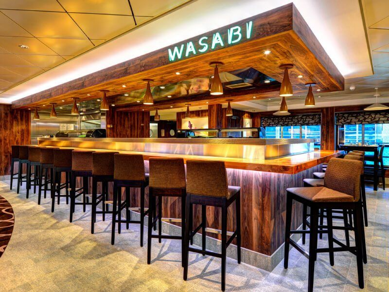 Wasabi à bord du bateau de croisière Norwegian Getaway