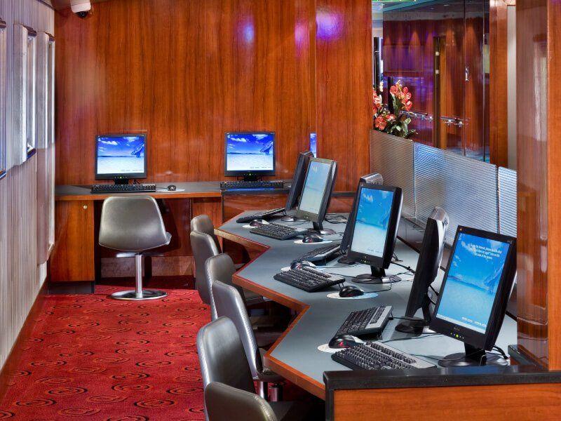 Café Internet du bateau de croisière Norwegian Pearl