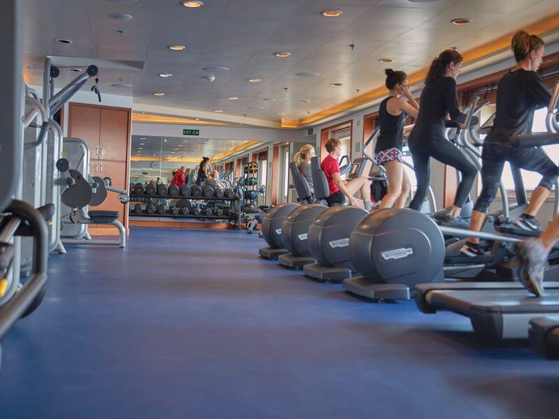 Salle de Fitness du bateau de croisière Seven Seas Voyager