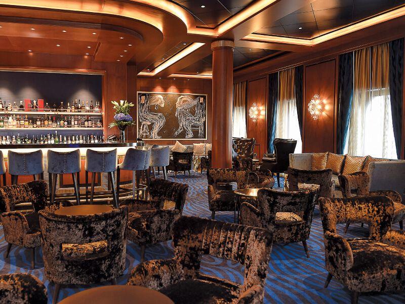 Lounge du bateau de croisière Seven Seas Explorer