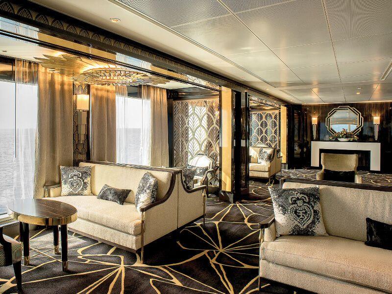 Lounge Observation du bateau de croisière Seven Seas Explorer