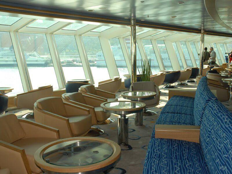 Lounge du bateau de croisière MS Fram