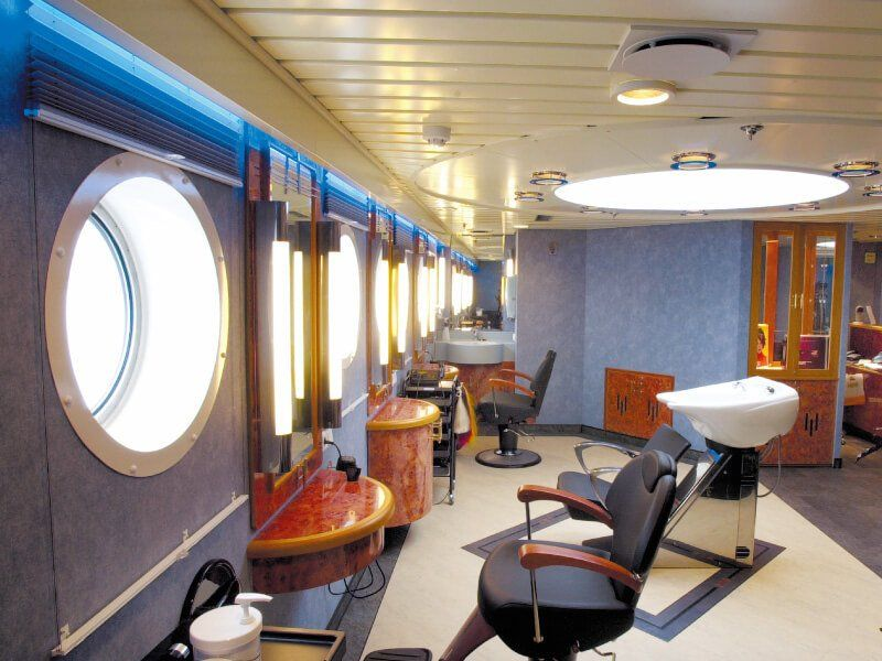 Salon de coiffure du bateau de croisière MS Finnmarken
