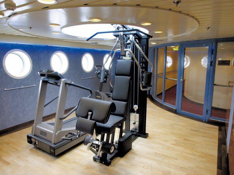 Salle de sport du bateau de croisière MS Finnmarken
