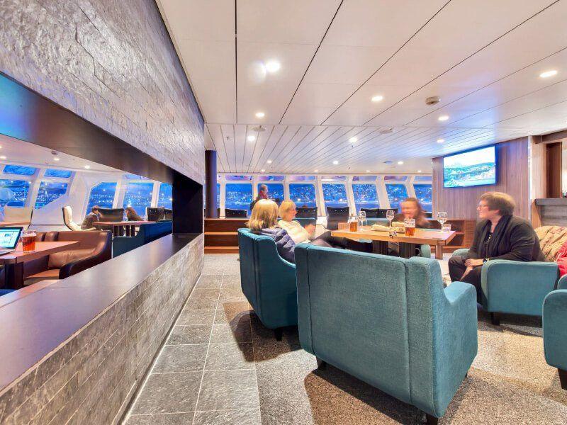 Salon du bateau de croisière MS Kong-Harald