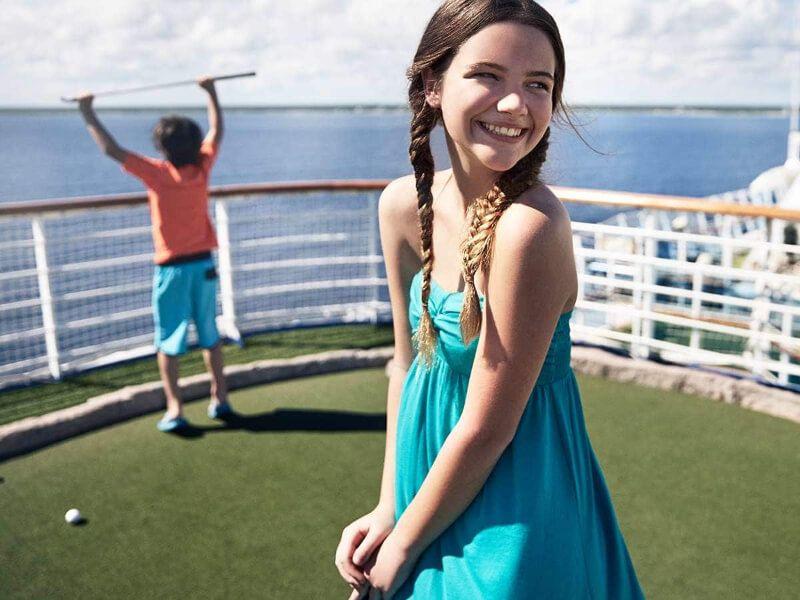 Golf du bateau de croisière Caribbean Princess