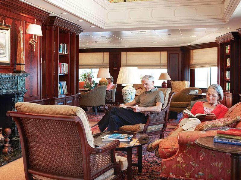 Bibliothèque  du bateau de croisière Pacific Princess