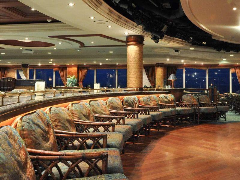 Lounge du bateau de croisière Pacific Princess