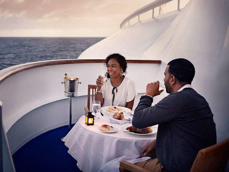 Terrasse du bateau de croisière Pacific Princess