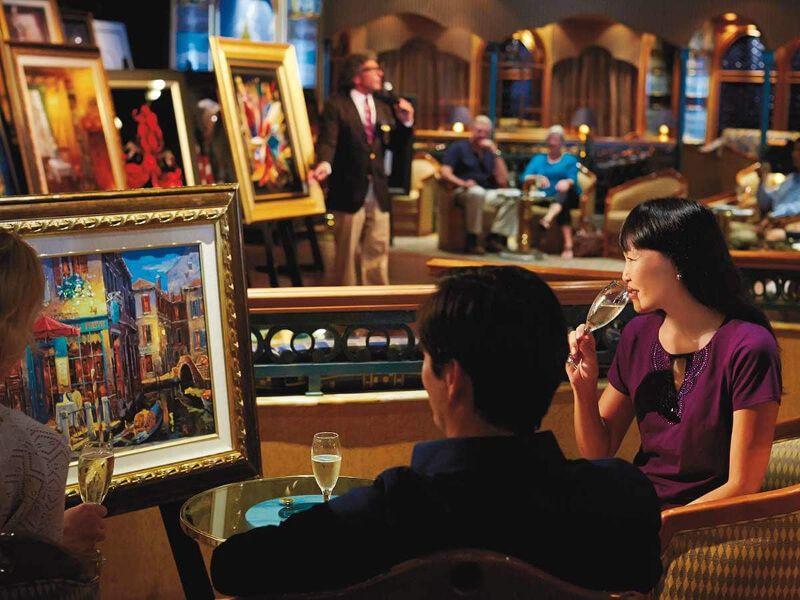 Galerie d'art du bateau de croisière Sapphire Princess