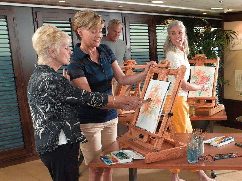 Atelier de l'artiste du bateau de croisière Marina