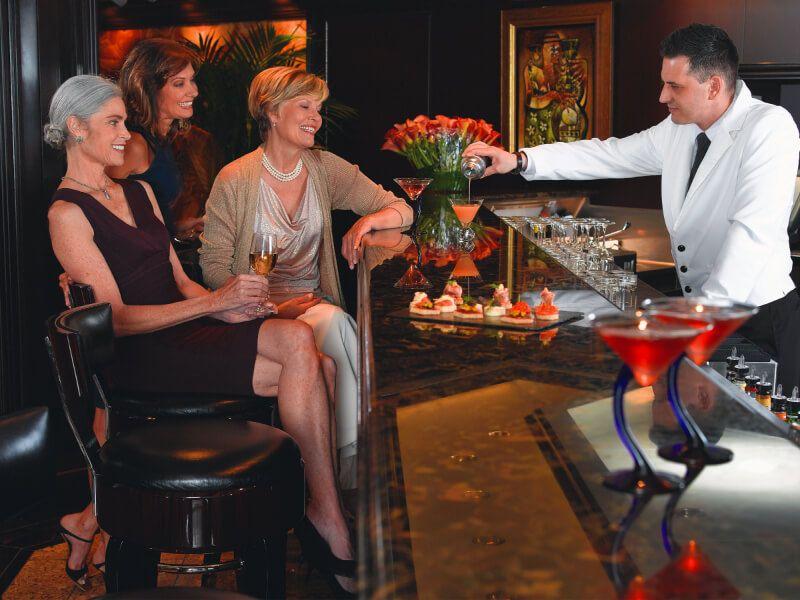 Salon bar du bateau de croisière Marina