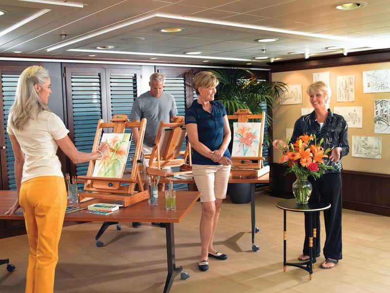 Atelier de l'artiste du bateau de croisière Riviera