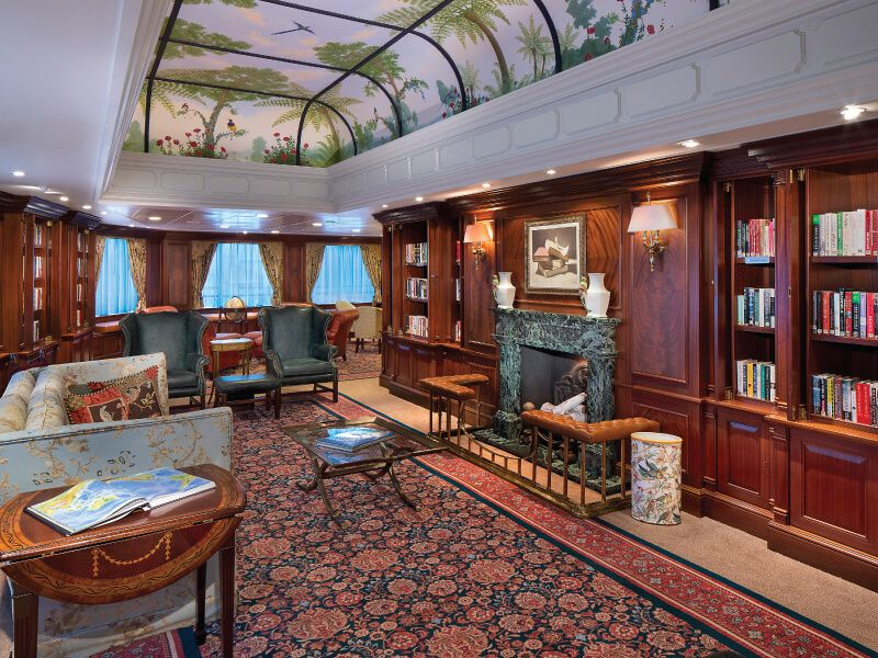 Bibliothèque  du bateau de croisière Sirena