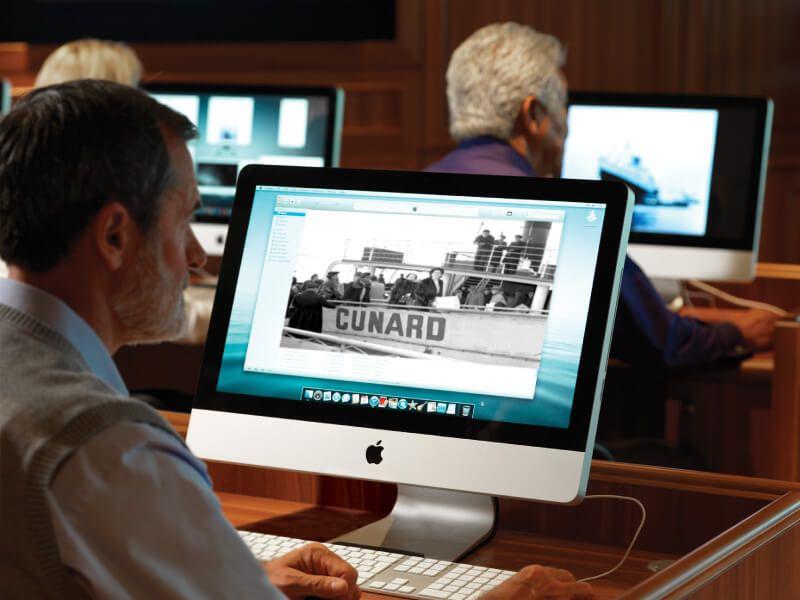 Espace Internet du bateau de croisière Queen Elizabeth