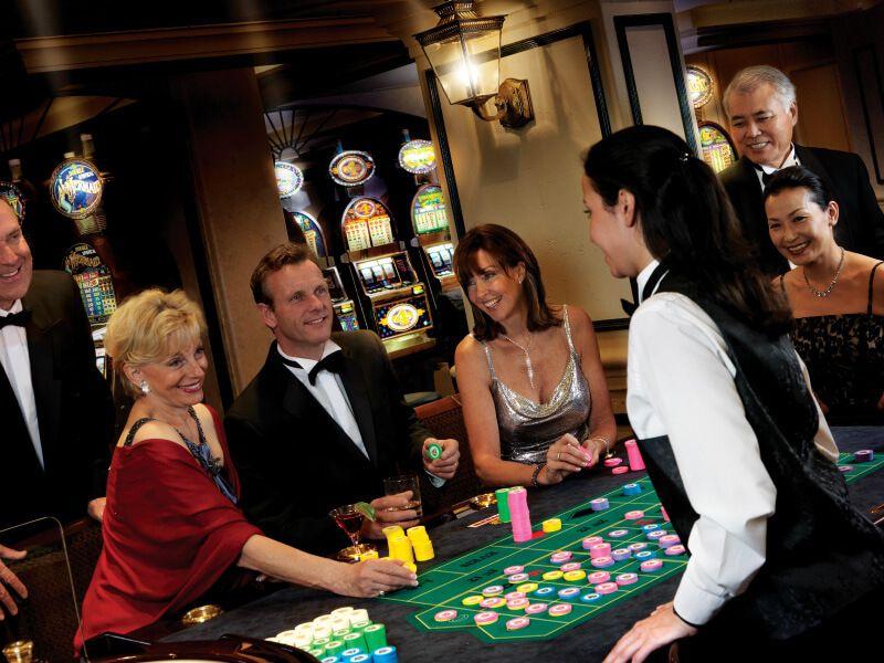 Casino du bateau de croisière Queen Victoria