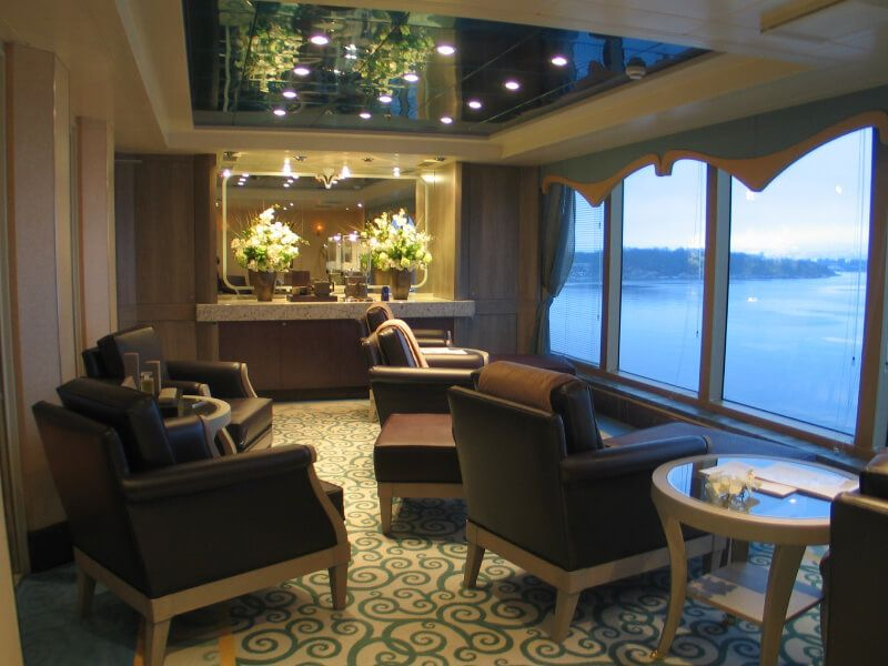 Lounge du bateau de croisière Queen Victoria
