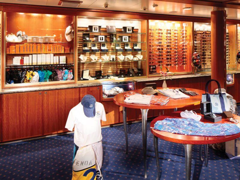 Boutique du bateau de croisière SeaDream I
