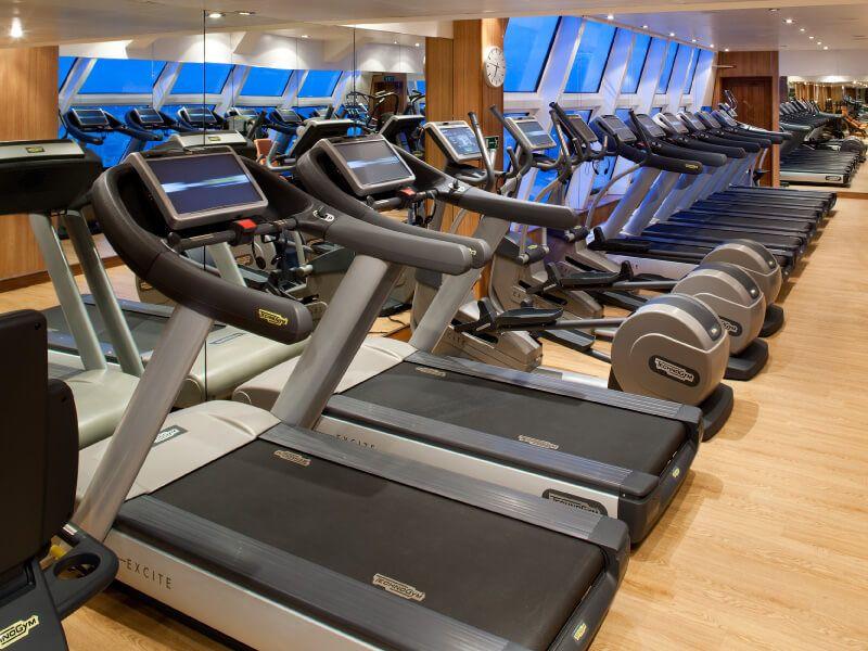 Salle de Fitness du bateau de croisière Seabourn Quest