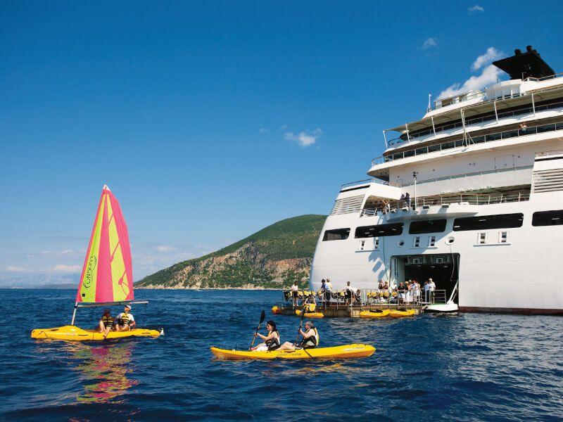 Marina du bateau de croisière Seabourn Sojourn