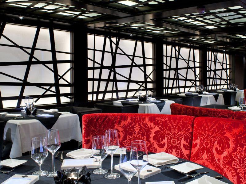 Photo du restaurant du bateau de croisière Seabourn Sojourn