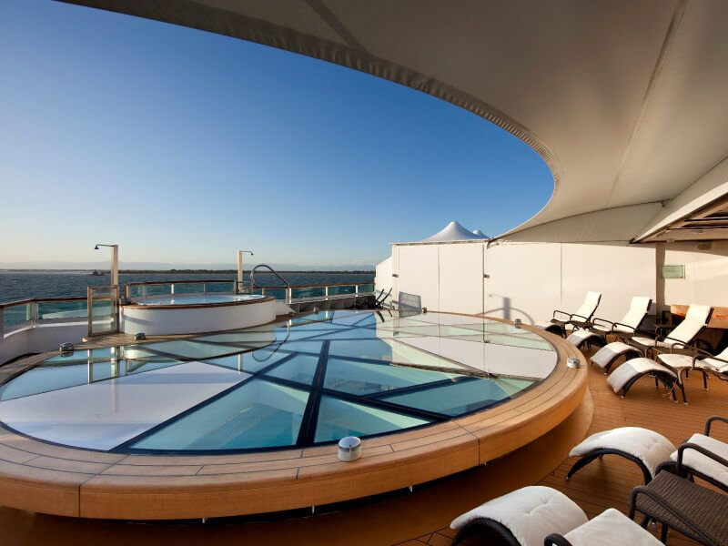 Terrasse SPA du bateau de croisière Seabourn Sojourn