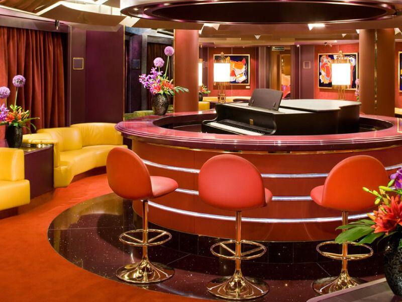 Piano Bar du bateau de croisière MS Amsterdam