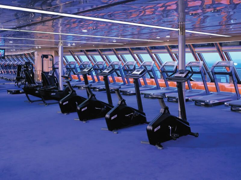 Salle de fitness du bateau de croisière MS Amsterdam