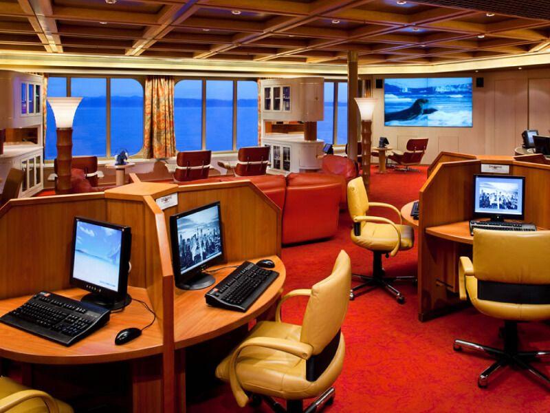 Zone internet du bateau de croisière MS Amsterdam