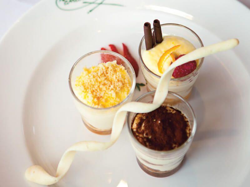 Plat gastronomique à déguster à bord du bateau de croisière MS Maasdam