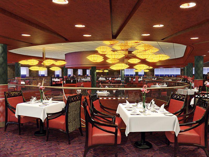 Salle de restaurant du bateau de croisière MS Nieuw Amsterdam